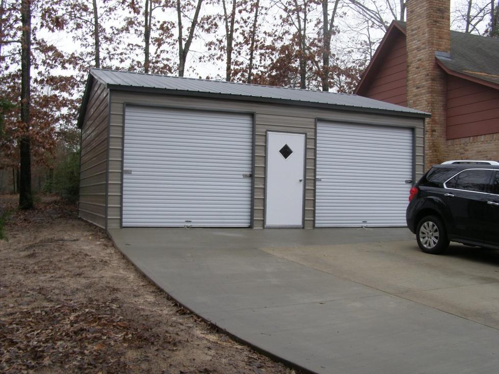 Metal garages nebraska ne prices for Double garage cost