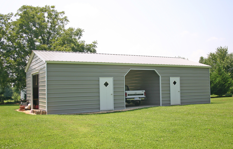 Carports metal garages barns steel rv carports for Metal rv garage