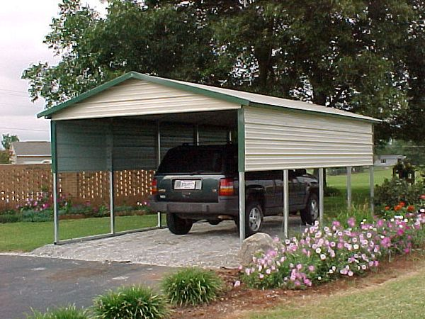 Carports metal garages barns steel rv carports for Rv with car garage for sale