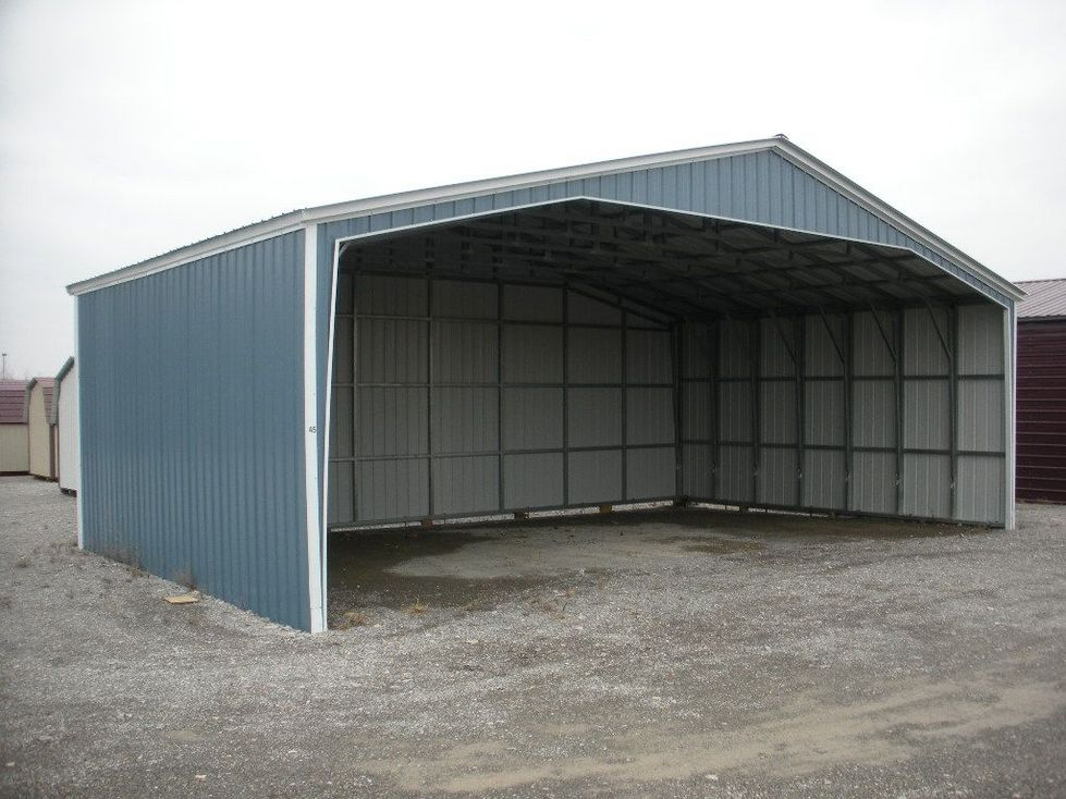 North carolina nc metal garages barns sheds and buildings for Carport ou garage
