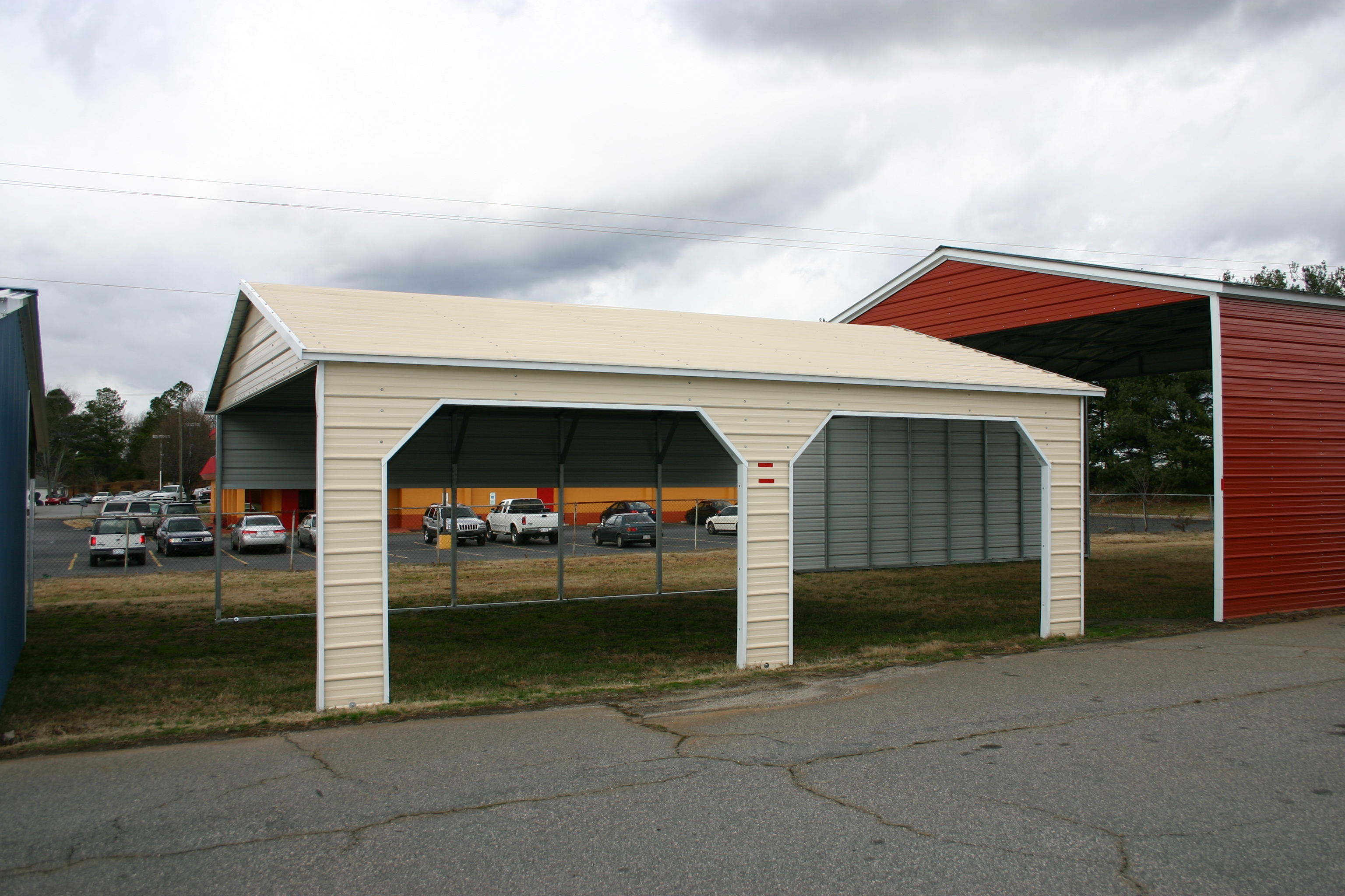 Metal carports american fork ut american fork utah carports for Carports with sides