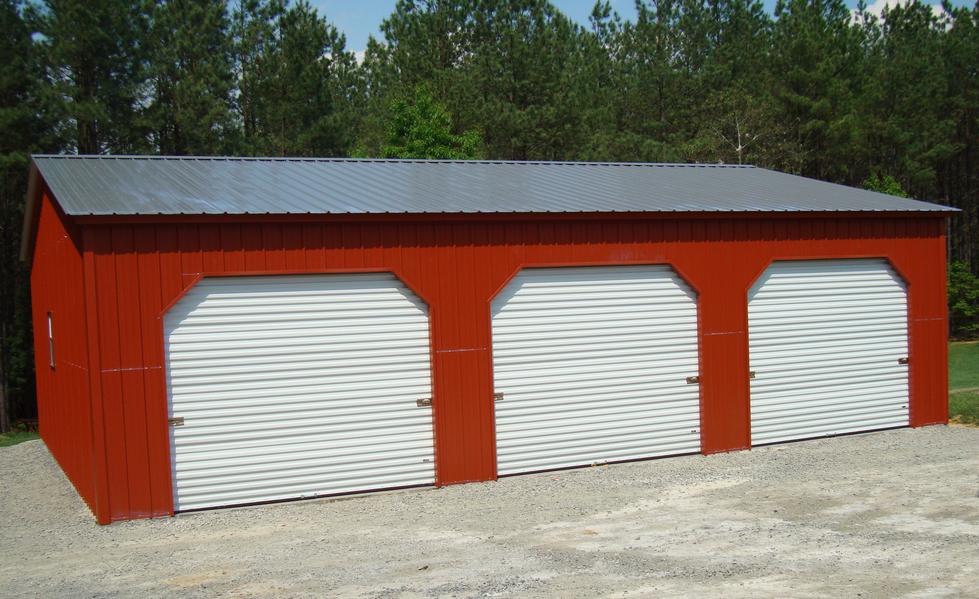 Triple Car Garage