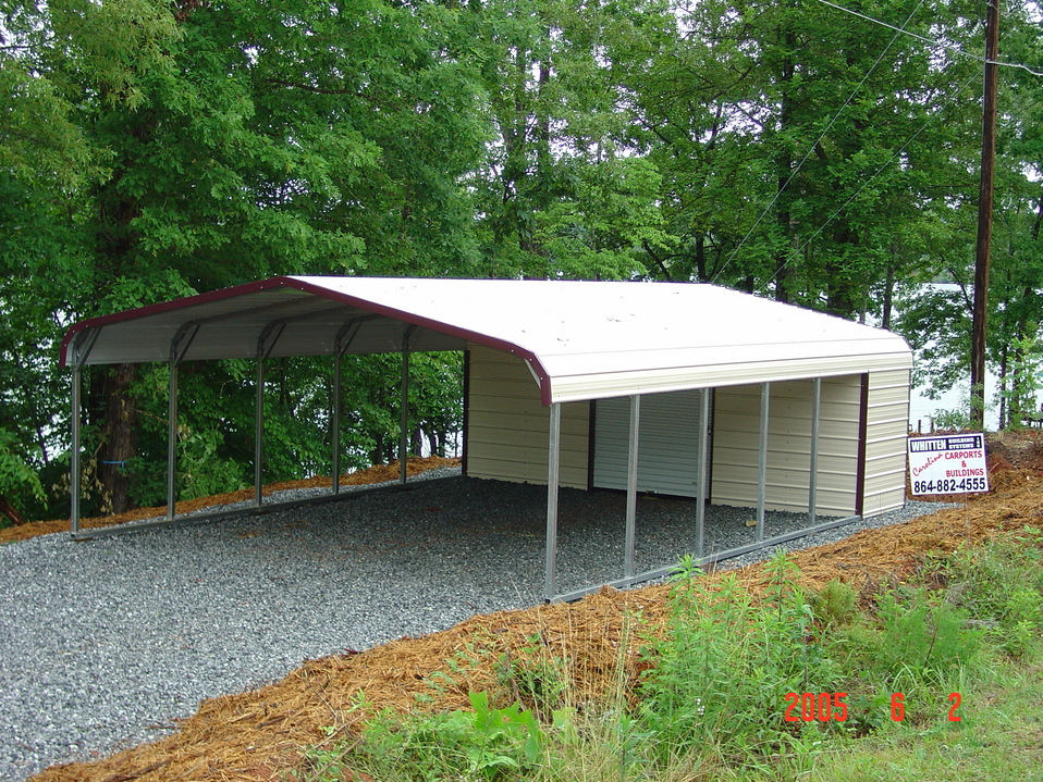 Utility carports utility carport carport with storage for Cost of building a house in southern maine