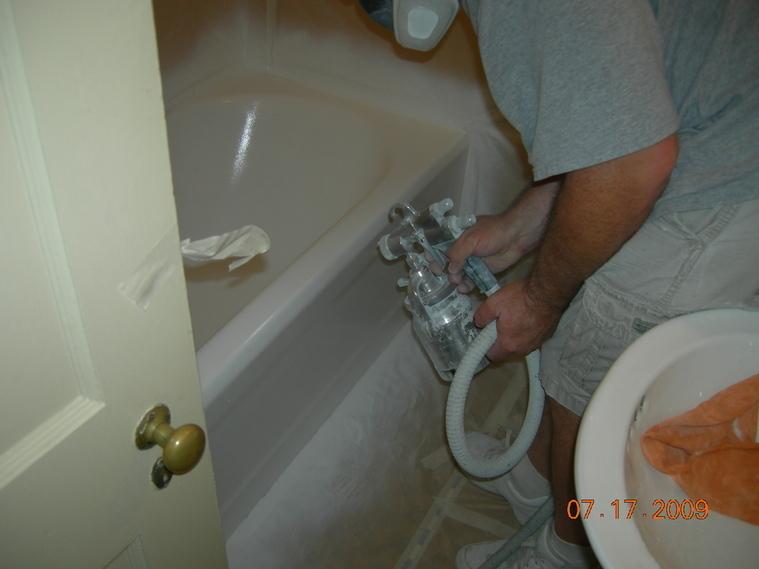 Fast Bath Remodel By Spraymasters Inc. Lexington KY
