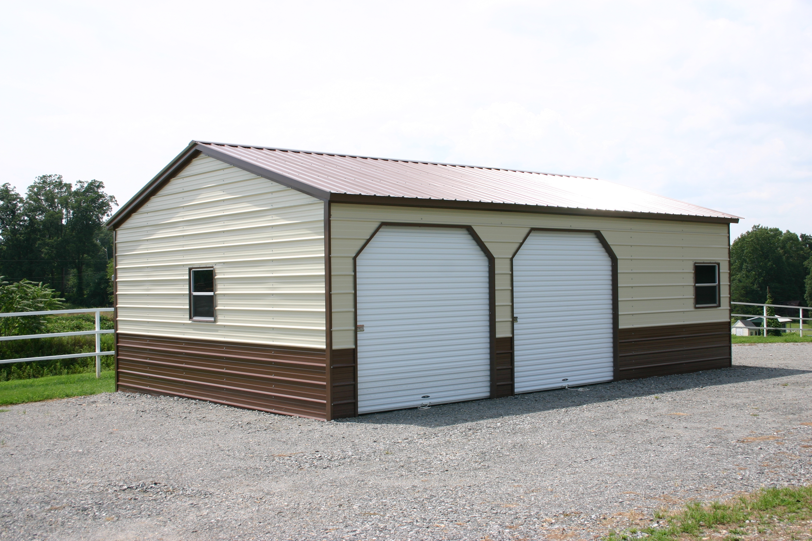 Portable storage buildings sheds carports metal steel garages for Barns and garages
