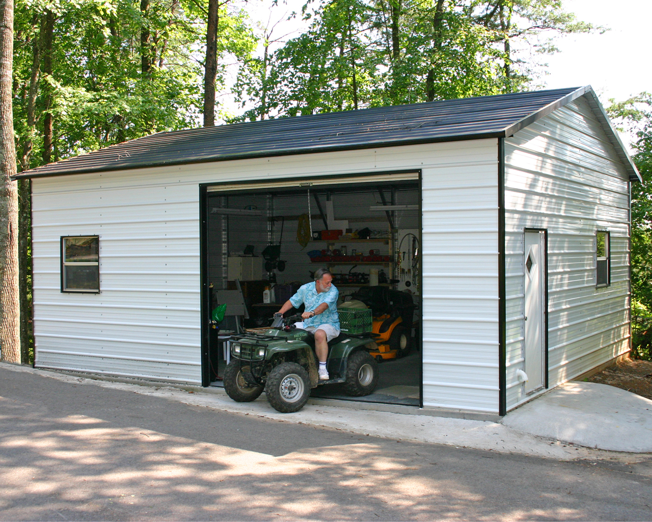 1 Car Metal Garage