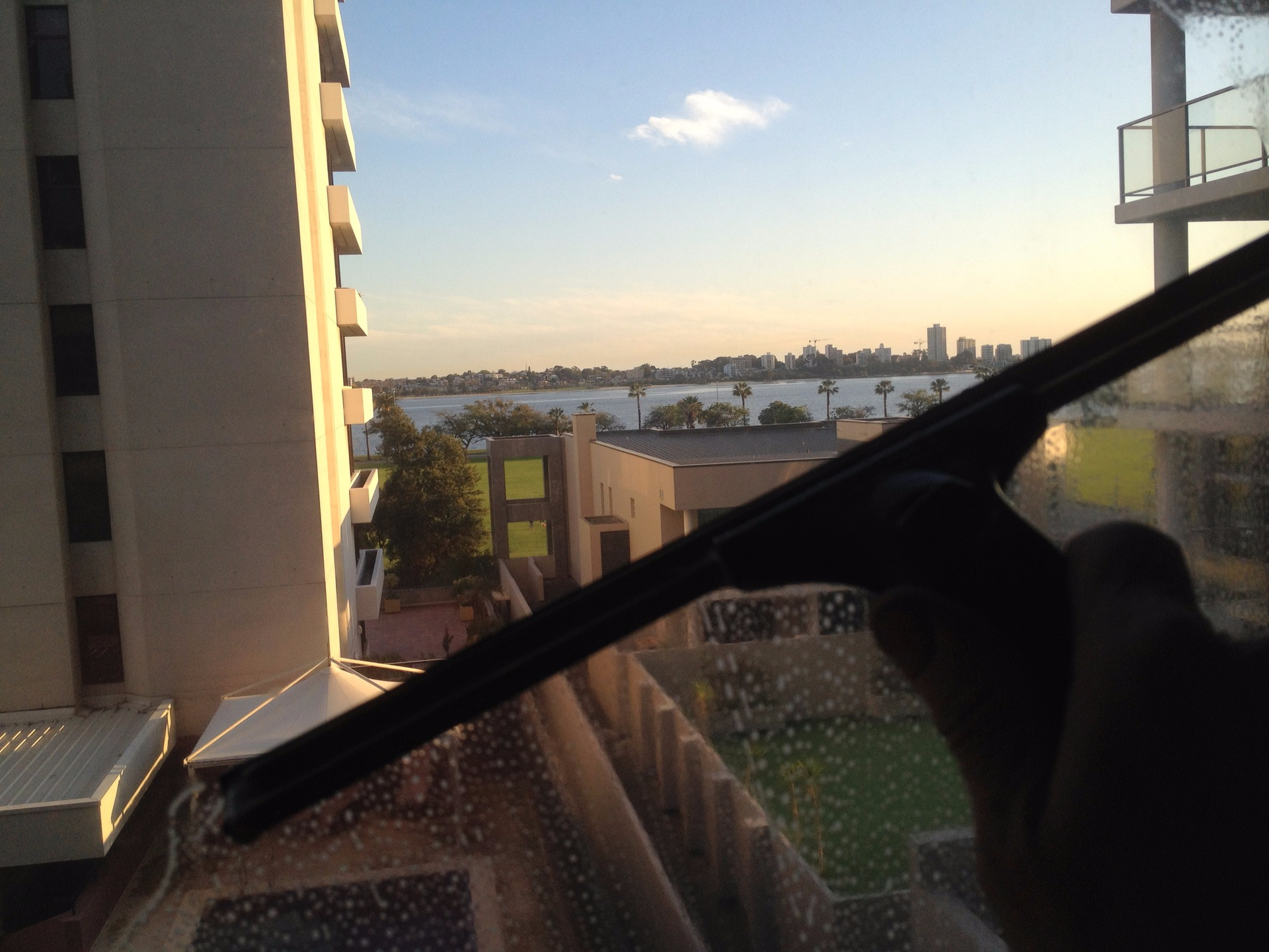 squeegee on Perth window cleaning