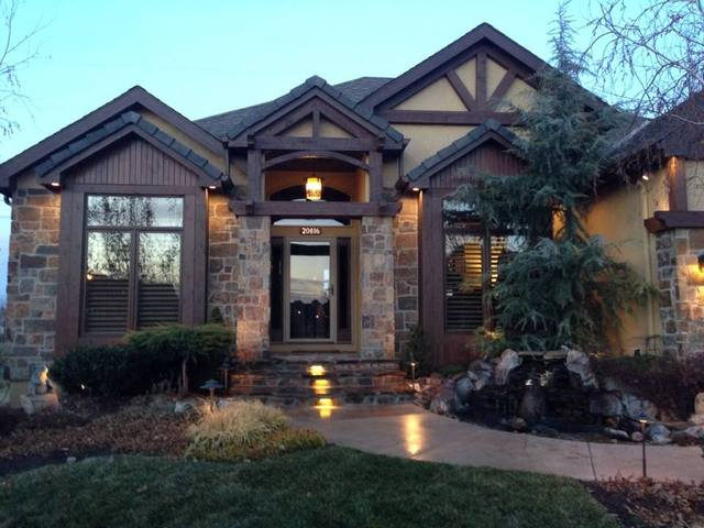 Stunning Brick And Stone Exterior Contemporary - Amazing House ...