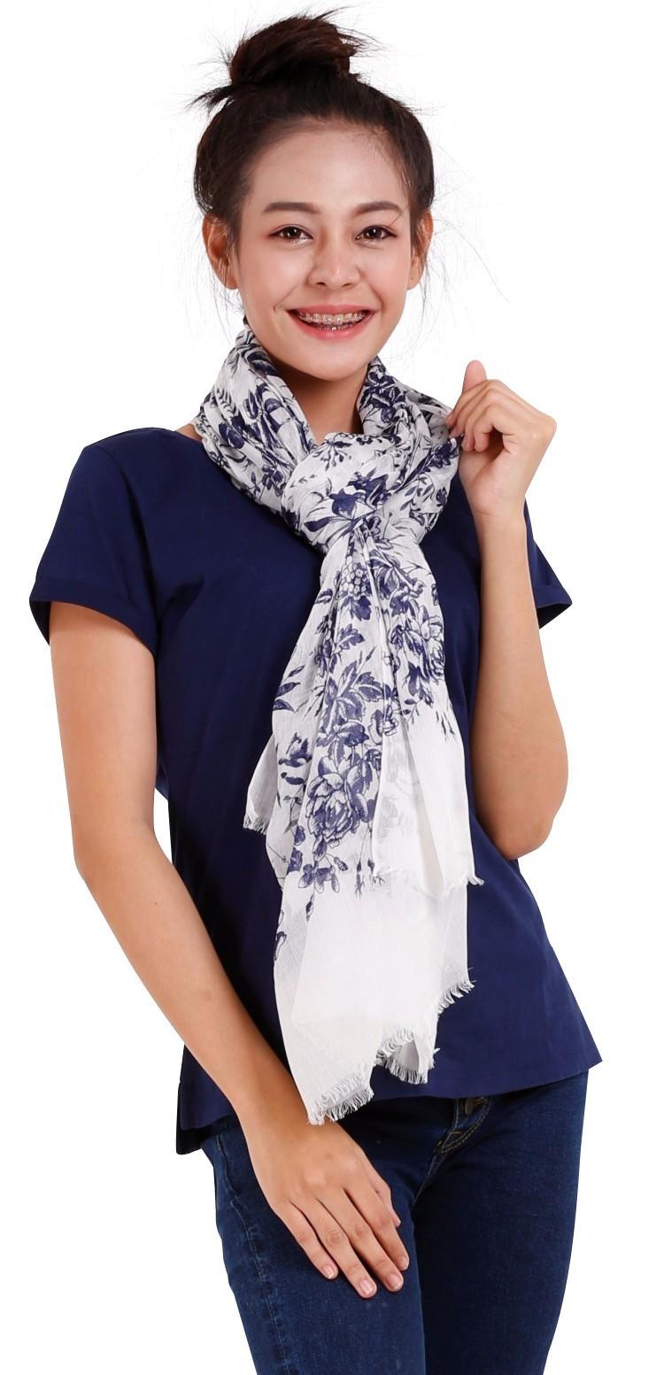 printed flower scarf