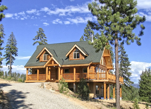 Log home styles Homestyles com