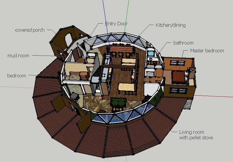 Outstanding Geodome House Plans Contemporary   Best Interior .