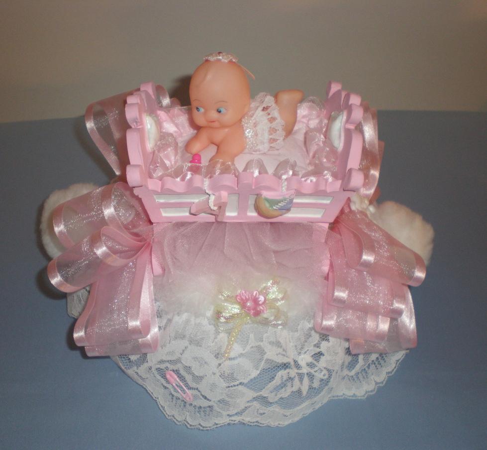 Baby Crib Cake Topper