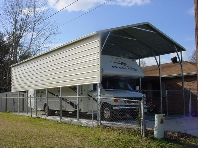 Carports florida fl metal garages barns rv covers for Rv covered parking structures