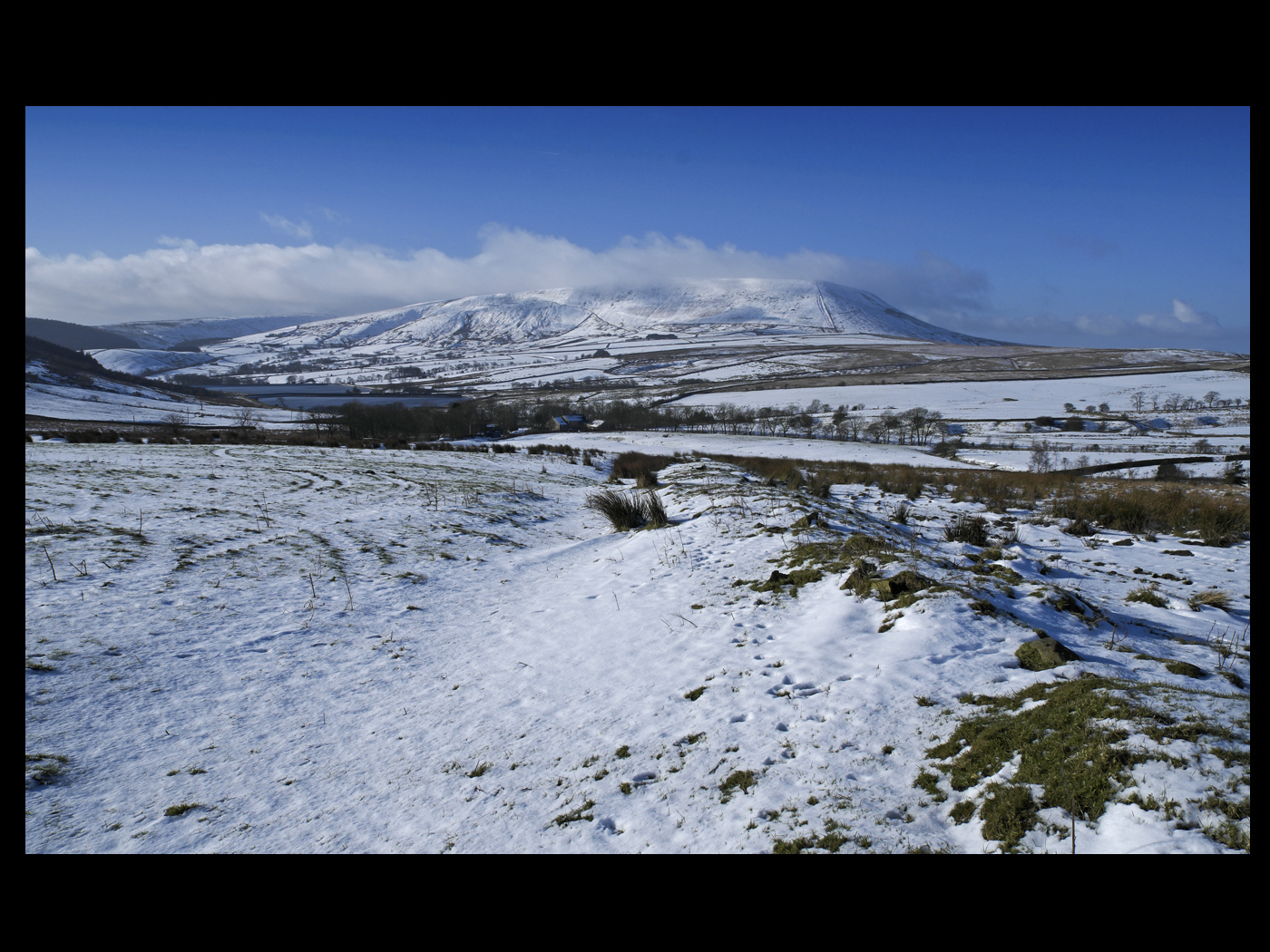 pendle from mountain top