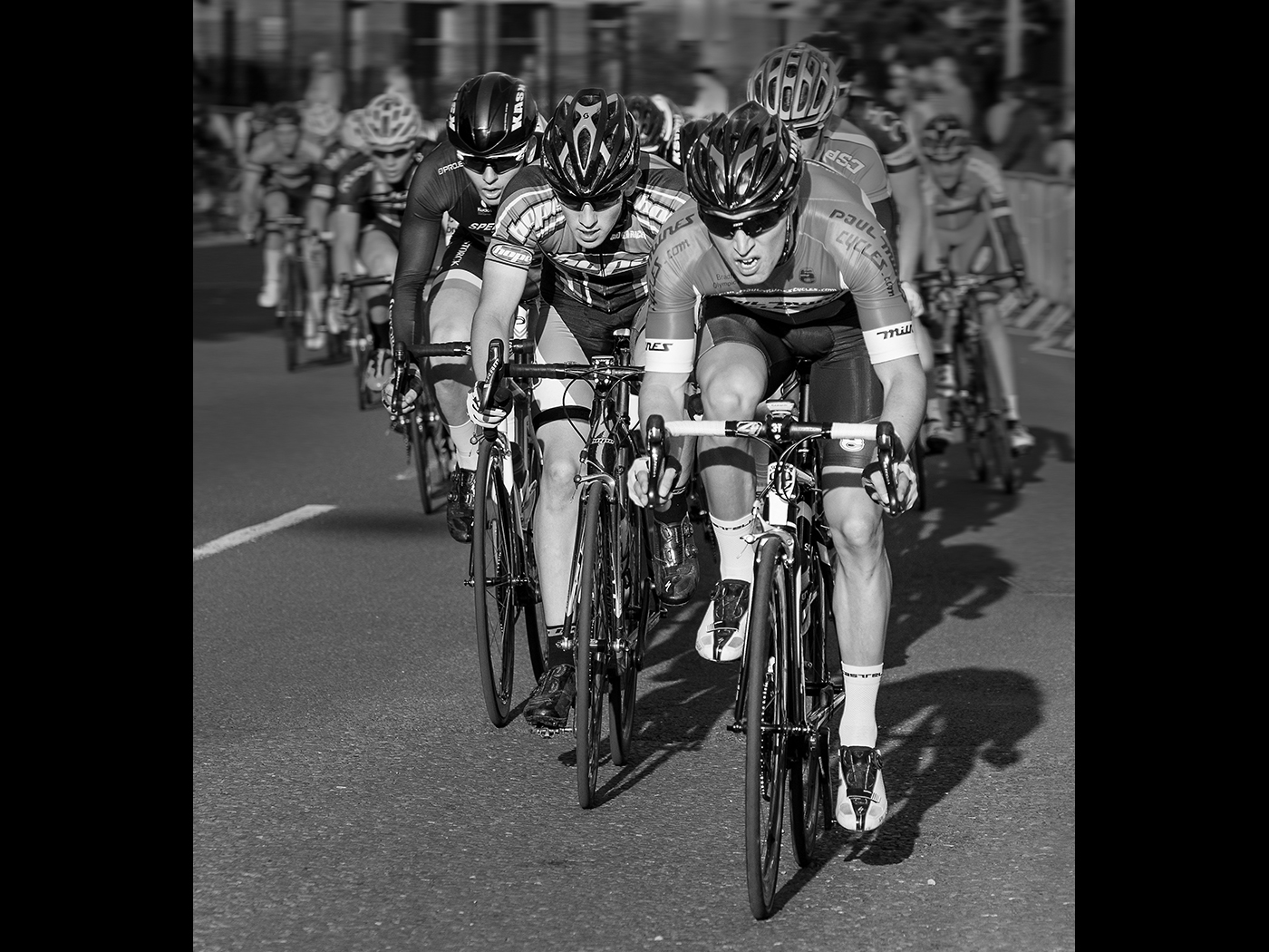 Fighting for the lead  Colne Grand Prix
