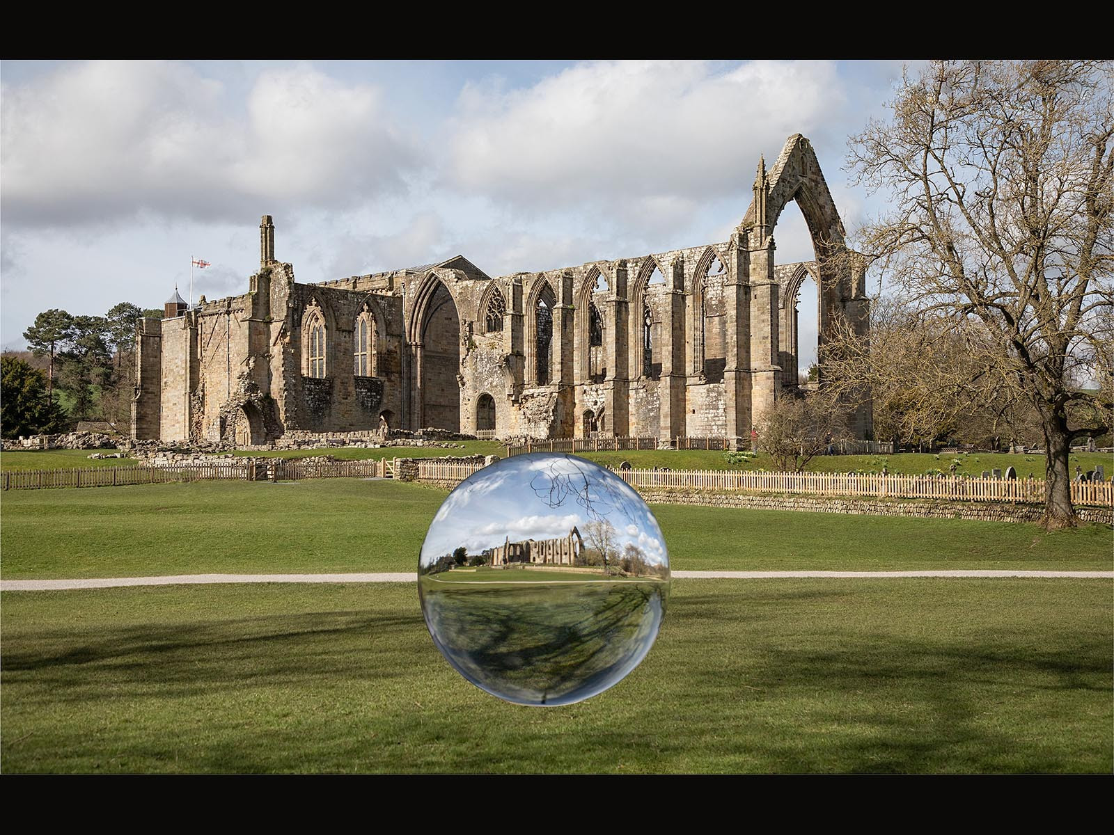 Bolton Abbey plus Lensball Capture by Ken Wilmore