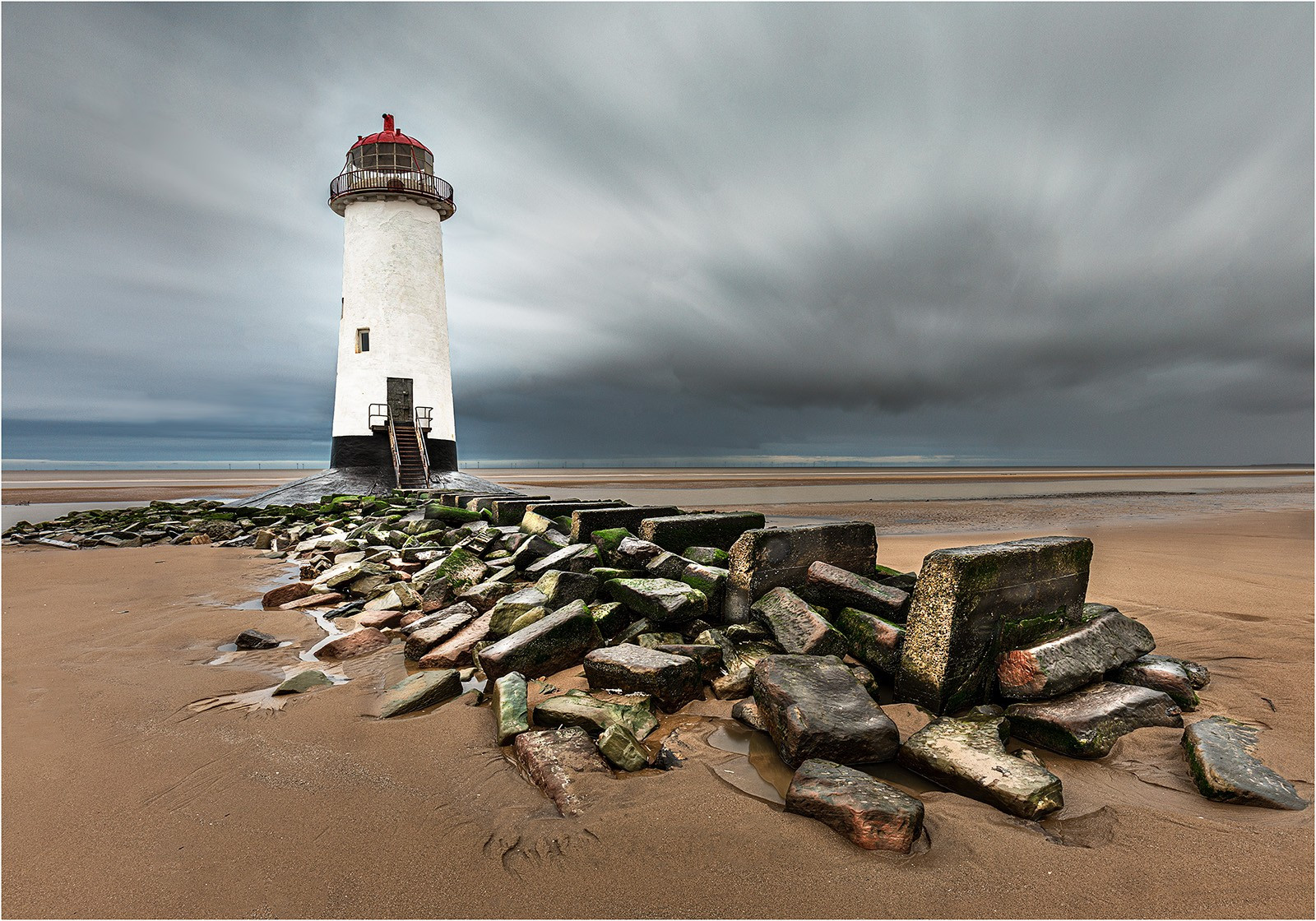 Point Of Ayr Lighthouse by Michael Whittaker CPAGB