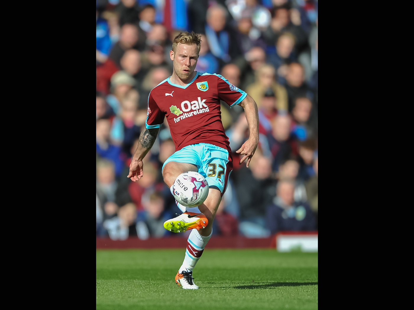 Scott Arfield during Burnley FC's promotion win v Queens Park Rangers