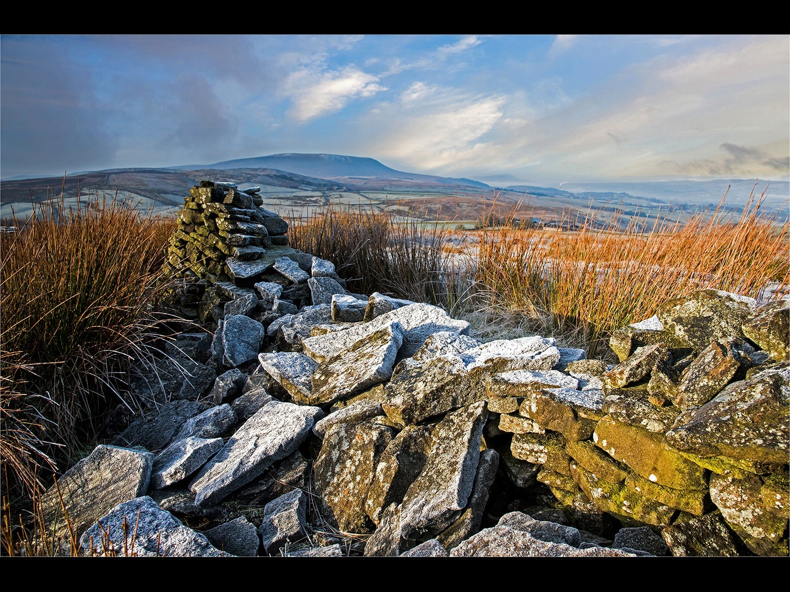 Frosty Morning Weets Hill with Pendle