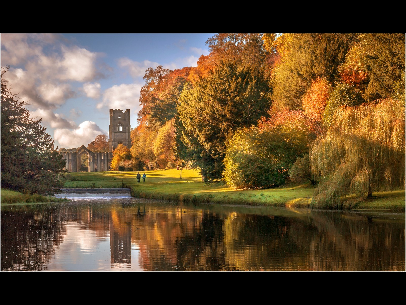 Morning Stroll Fountains Abbey
