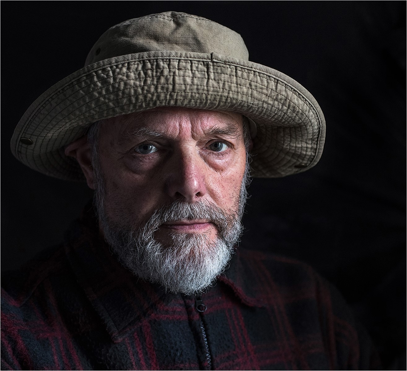 Portrait of Bill with hat