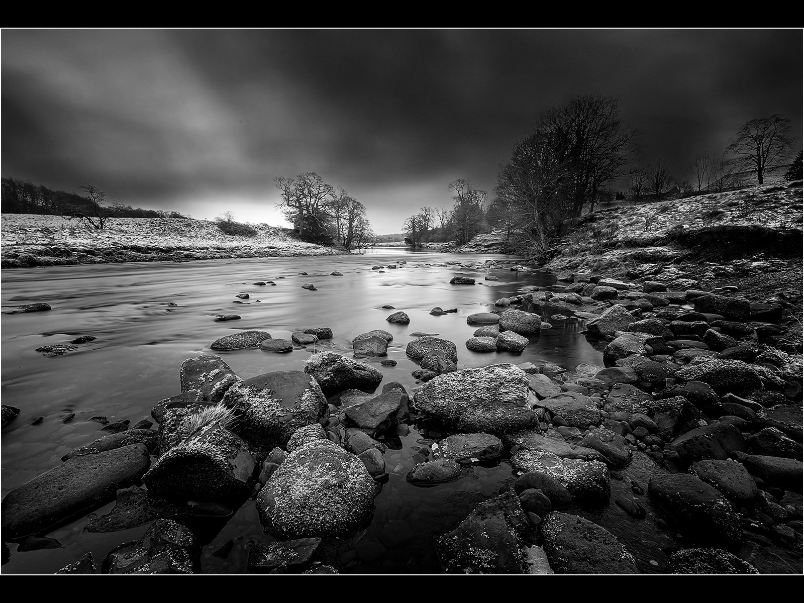 River Wharfe In Winter