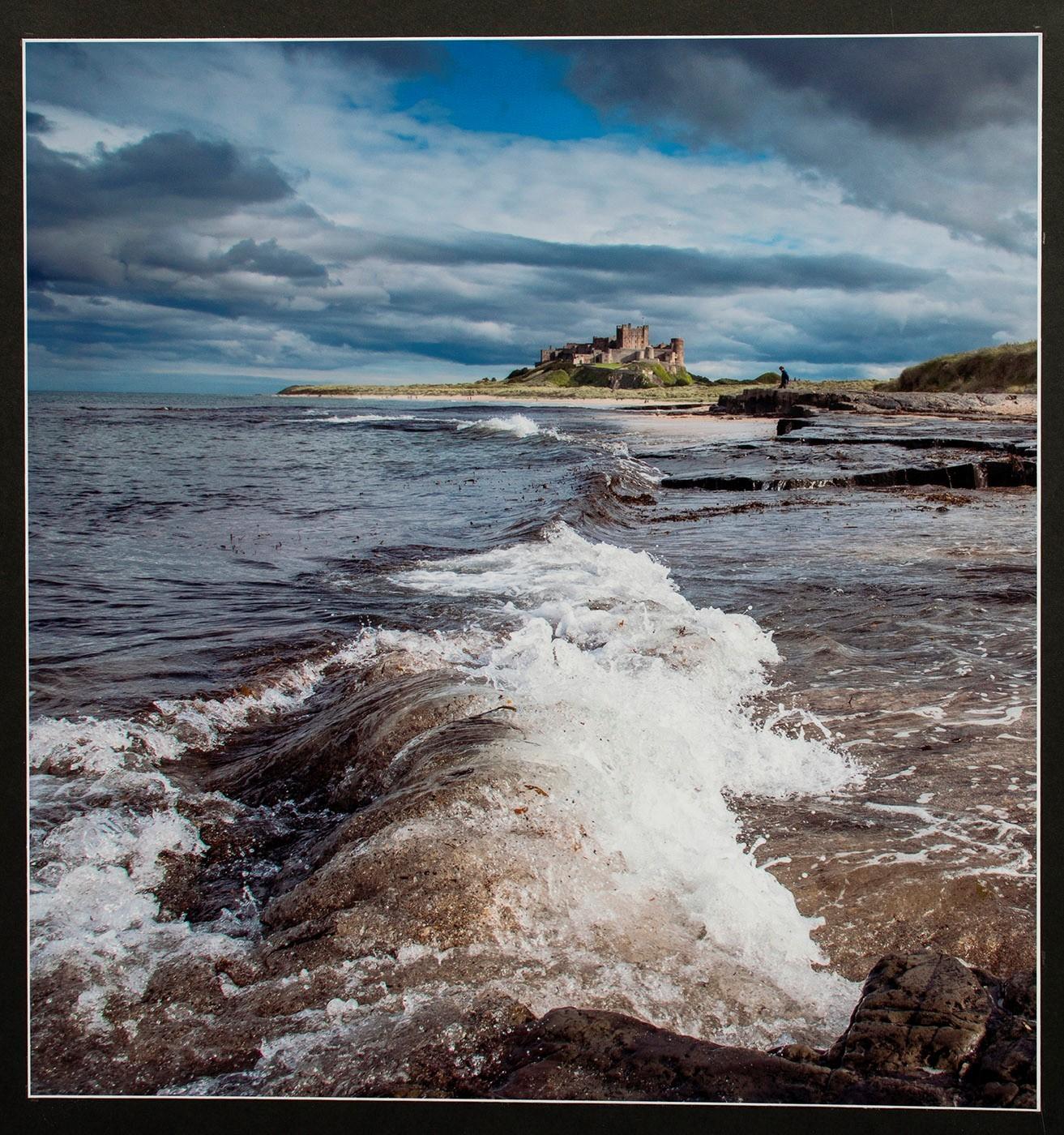 High tide Bamburgh Castle-2