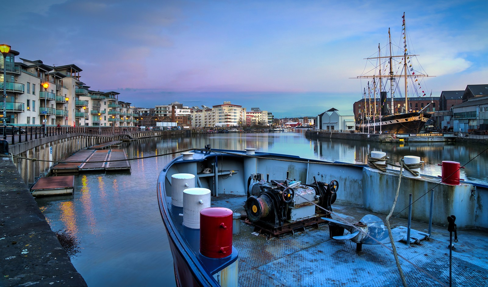 Evening Light on Bristol Waterfront