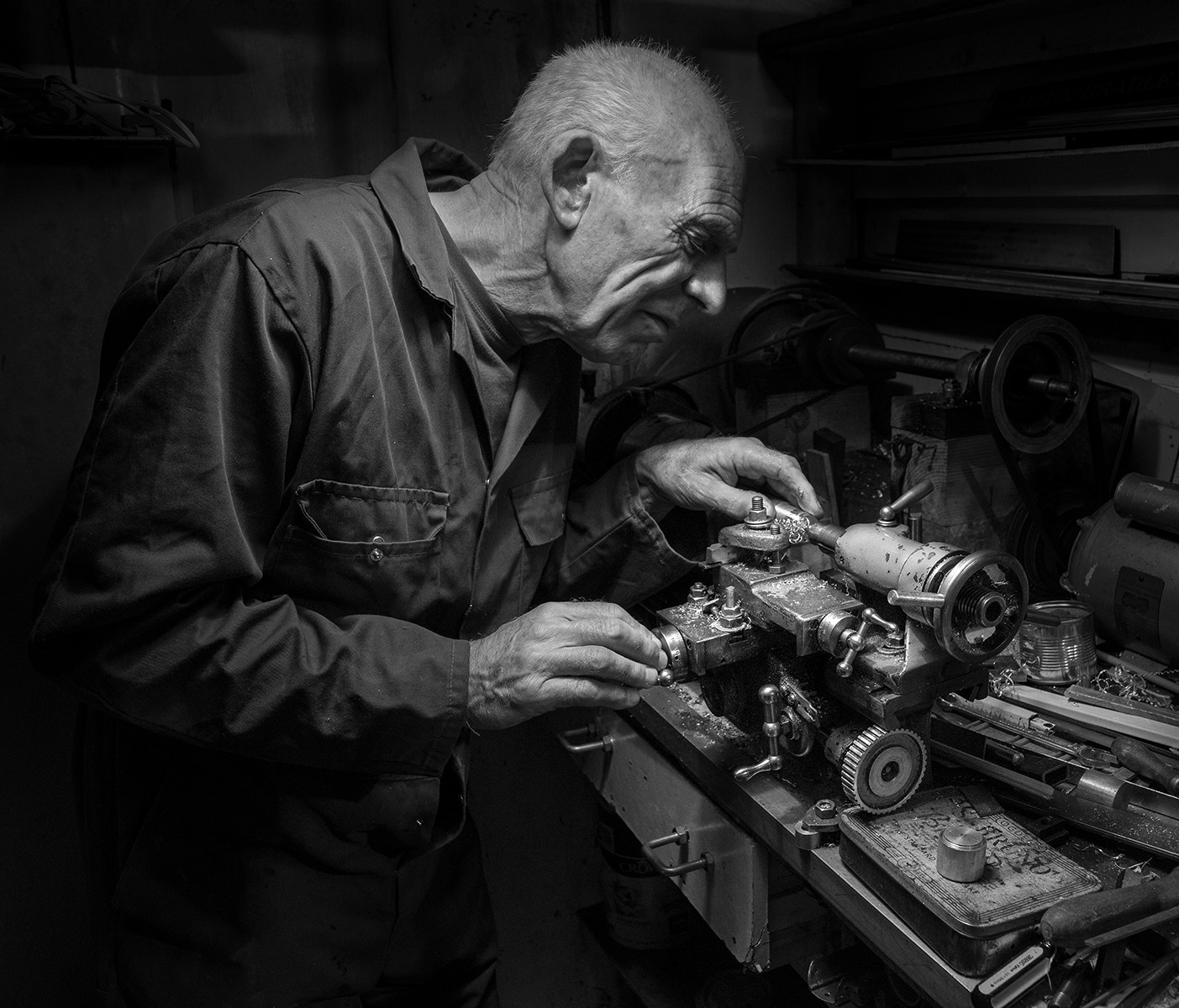Howard in his workshop