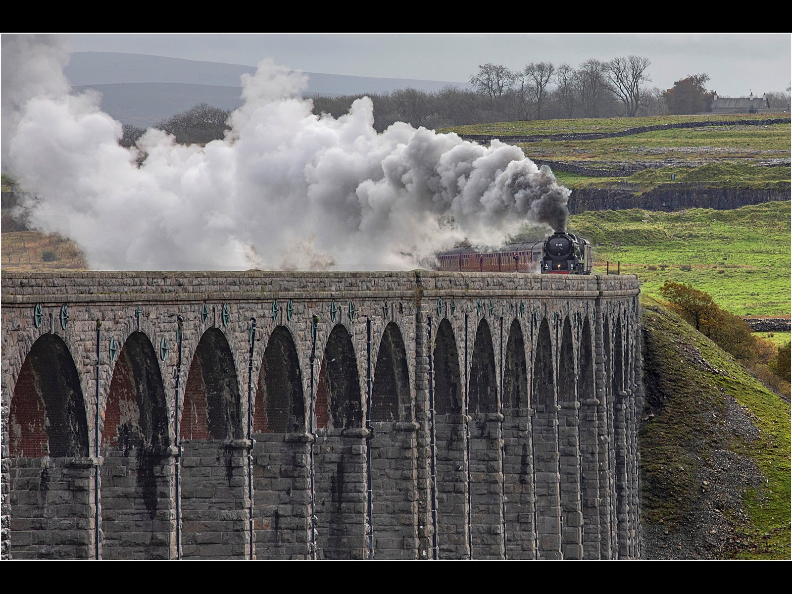 Steam over Ribblehead Viaduct