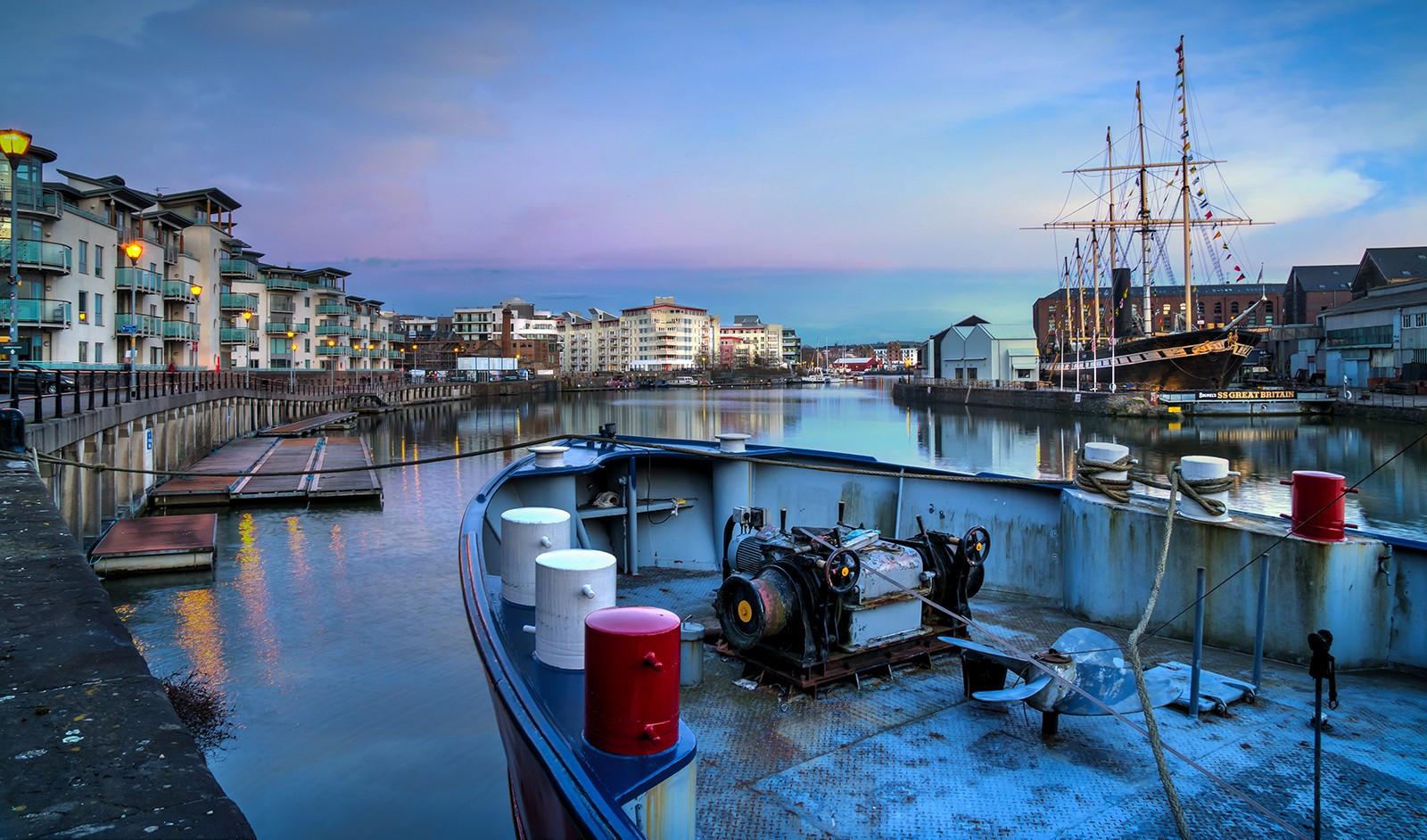 Evening Light on Bristol Waterfront