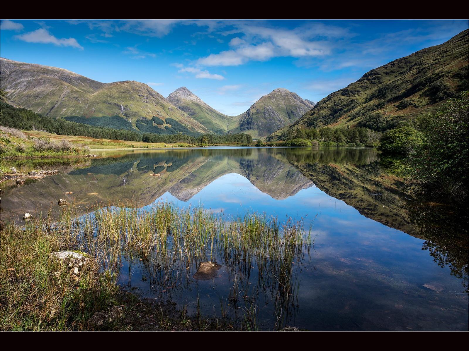 Loch Urr in Glen Etive  Scotland .