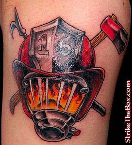 firefighter tattoos. Black Bedroom Furniture Sets. Home Design Ideas