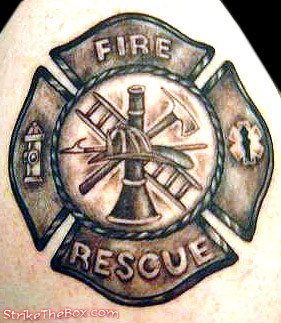 Maltese Cross Firefighter Tattoos