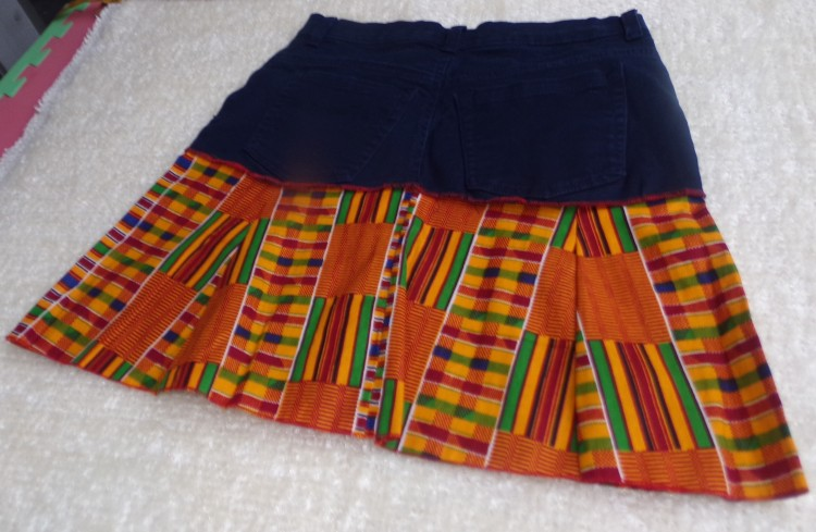 Catrina Nebo Katrina Village Kente Jeans Skirt