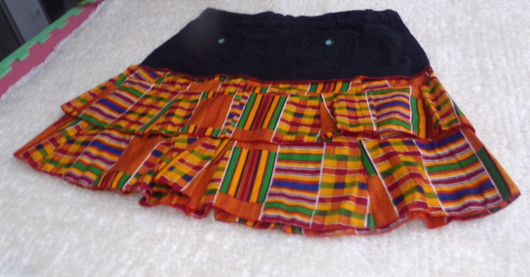 Catrina Village Catrina Nebo Kente Double layer Jeans Skirt
