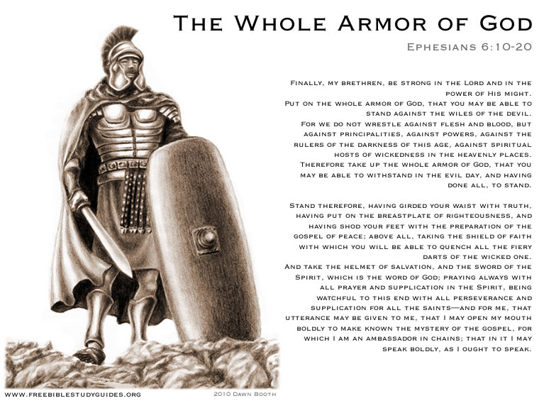 Whole Armor Of God on Body Soul Spirit And Worksheets