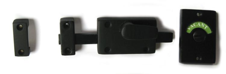 flat black bathroom lock
