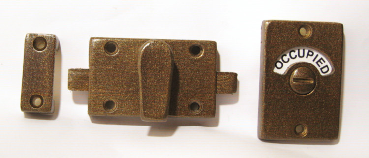 antique brass bathroom privacy lock