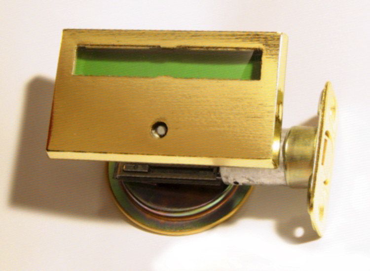 brass pocket door occupied lock