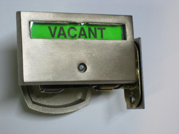 Privacy Indicator Lock, Bathroom Indicator Lock, Brushed Nickel Indicator Lock