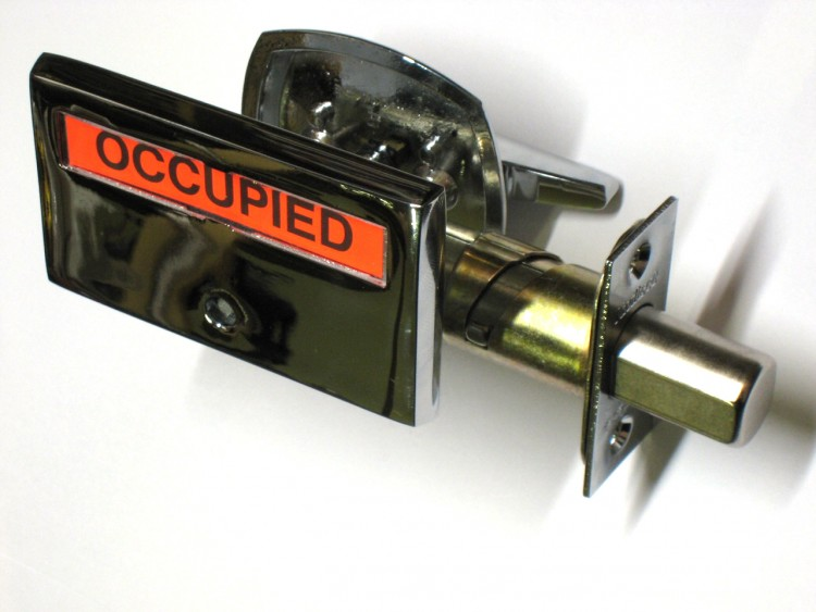 Bathroom Privacy Lock, Indicator Lock, ADA Occupied Lock, occupany indicator deadbolt