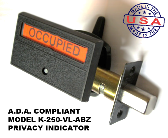 ADA Compliant Bronze Indicator Lock, Occupany Deadbolt indicator antique bronze