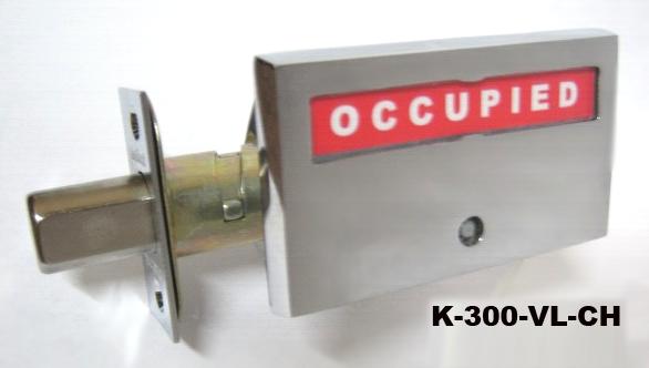 occupancy indicator deadbolt, privacy indicator lock, ada compliant bathroom lock