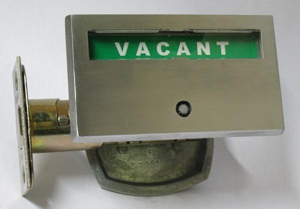 Polished Zinc Privacy Lock, Occupancy Indicator Deadbolt Zinc, Bathroom Privacy Lock Zinc