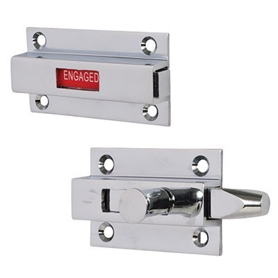 chrome privacy sliding indicator lock, restroom stall privacy lock,