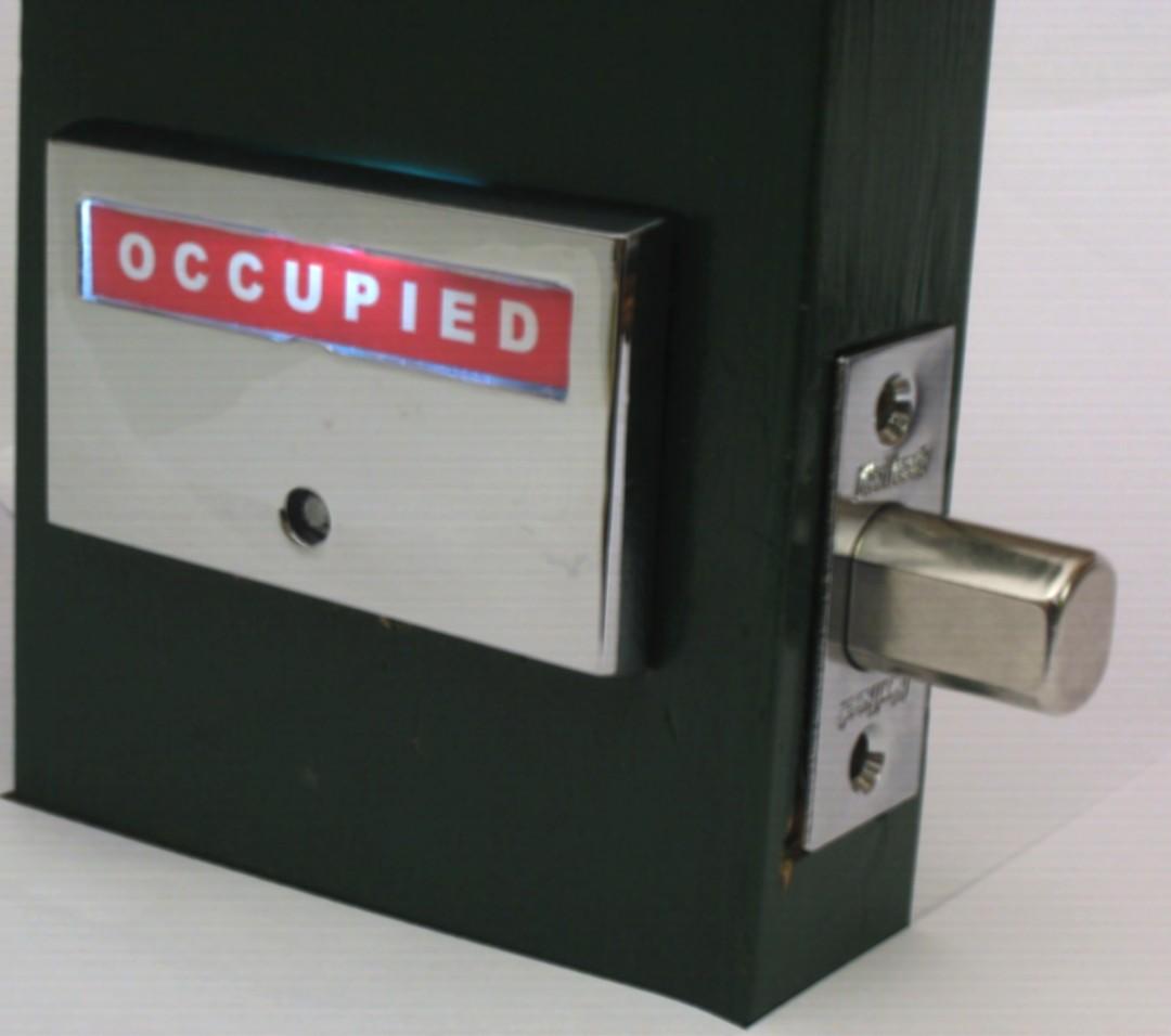 Bathroom occupied light - Led Occupied Light Indicator Lock Bathroom Privacy Lock With Light Up Occupied Restroom Indicator