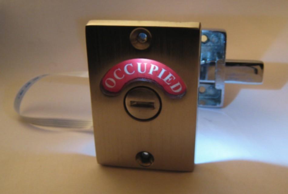 lighted occupied indicator lock, led bathroom indicator occupied,