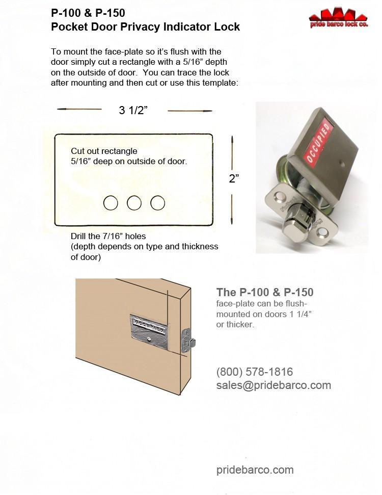 pocket door indicator lock, bathroom pocket door occupied lock