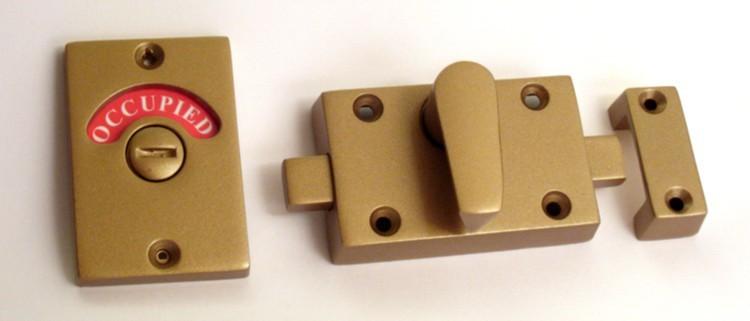 bronze bathroom indicator lock, occupied lock bronze